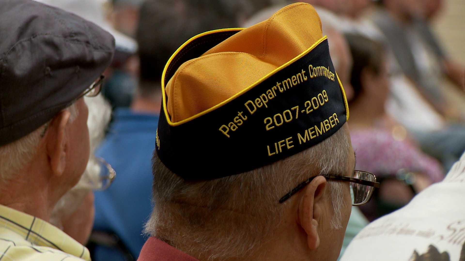Veteran with hat