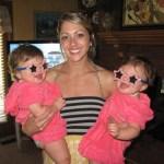 Megan Hines Gaines & twins celebrating July 4