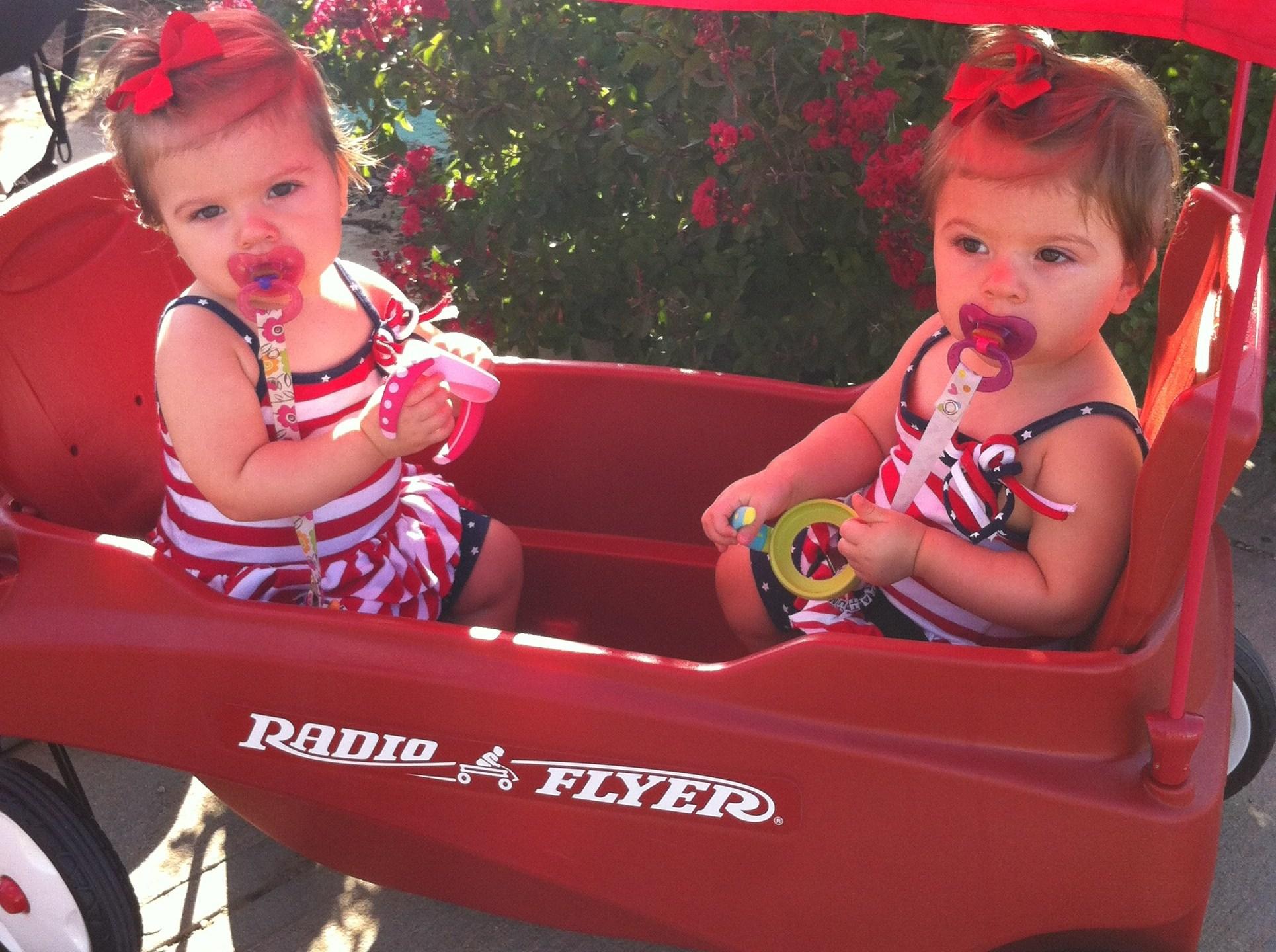 Megan Hines Gaines' twin babies