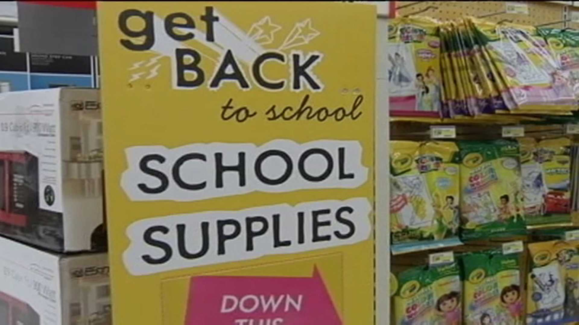 Back-to-school supplies