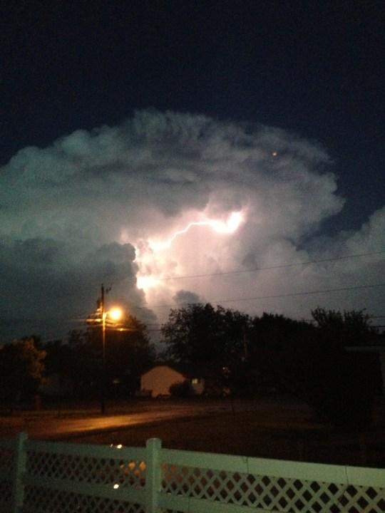 Lightning East Blackwell, Ok..