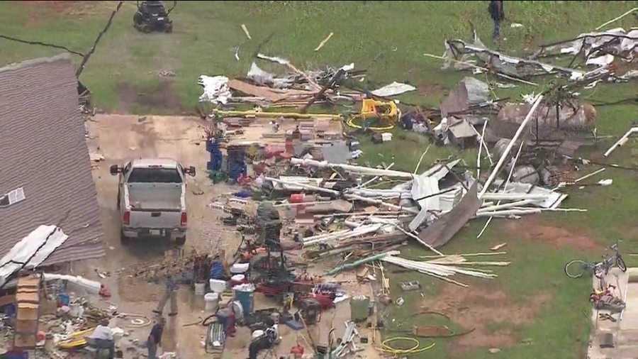 Carney storm damage