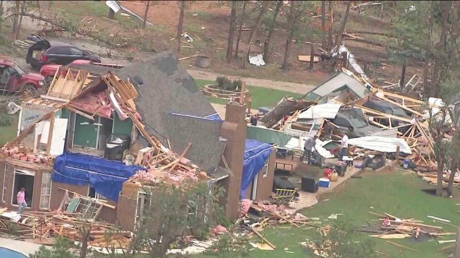 Carney tornado damage