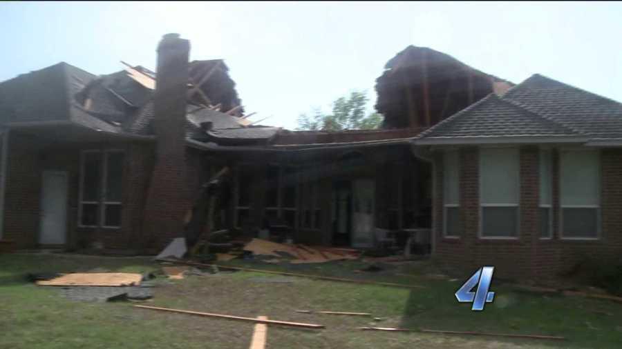 Edmond tornado tears roof off home