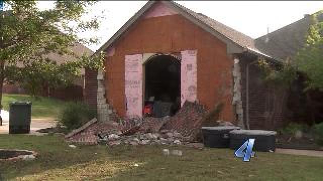 Edmond home tornado damage
