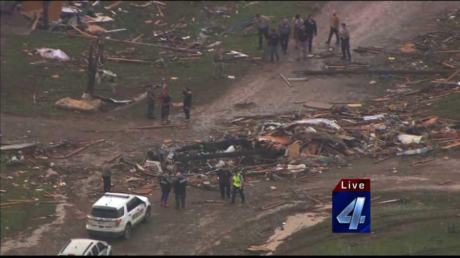 Twin Lakes tornado damage