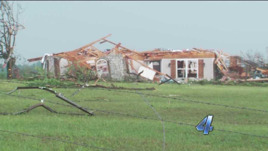 Wellston tornado damage