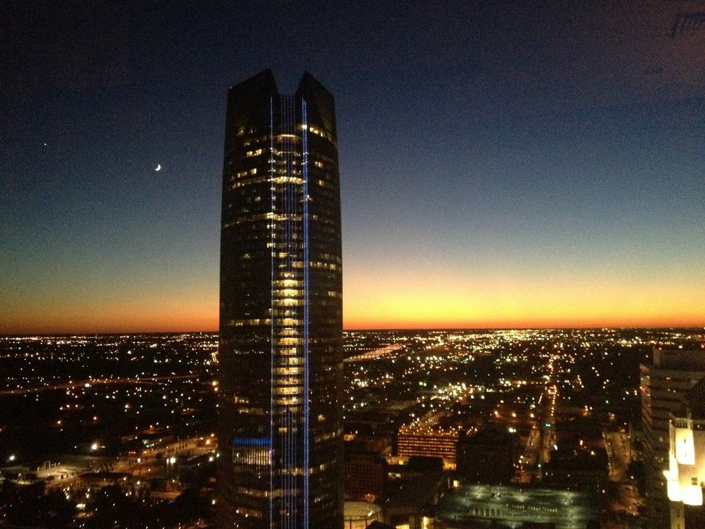 Devon Tower in sunset from Chase Tower - Ashton Edwards