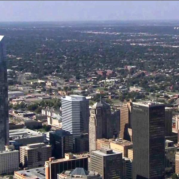 image of oklahoma city from chopper