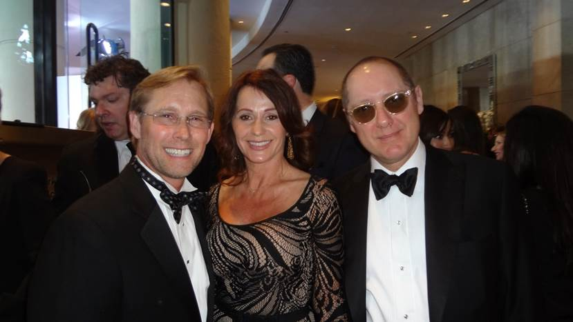 Bart Conner and Nadia Comaneci with James Spader