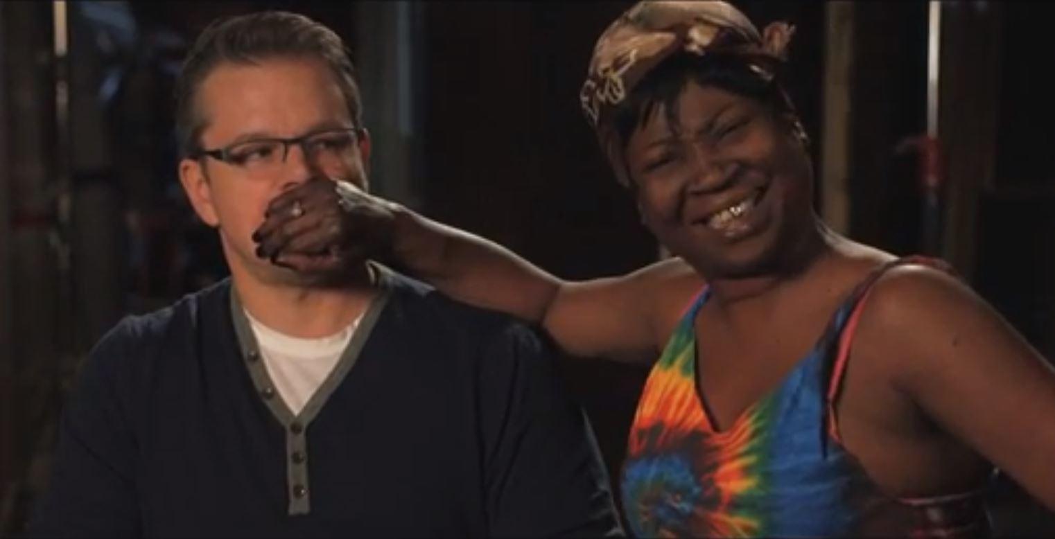 Photo: Sweet Brown & Matt Damon on Jimmy Kimmel