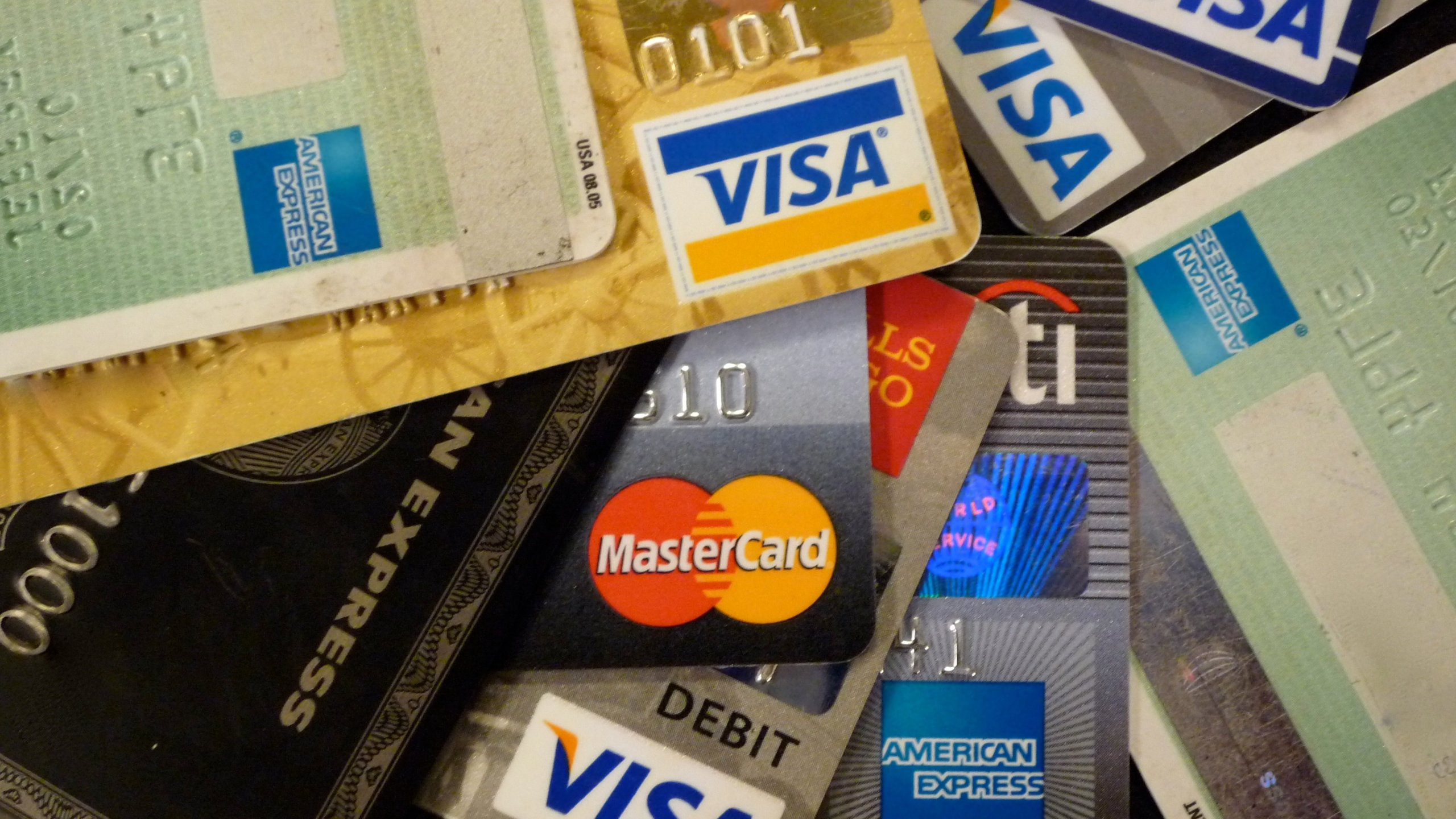 [FILE] A stock photo of VISA, American Express and MasterCard credit cards.
