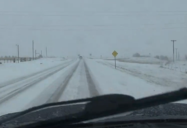 KFOR Storm Tracker chasing winter storm