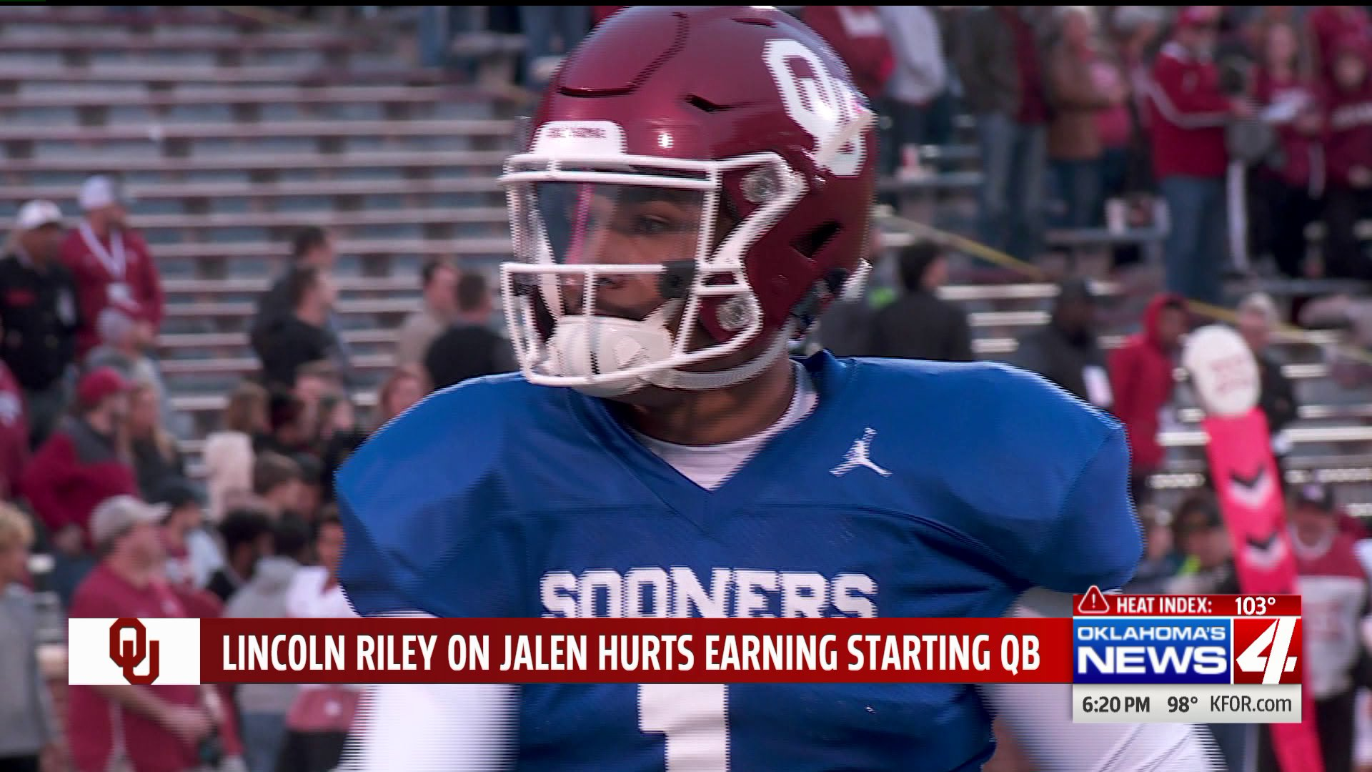 Lincoln Riley Says Jalen Hurts Won