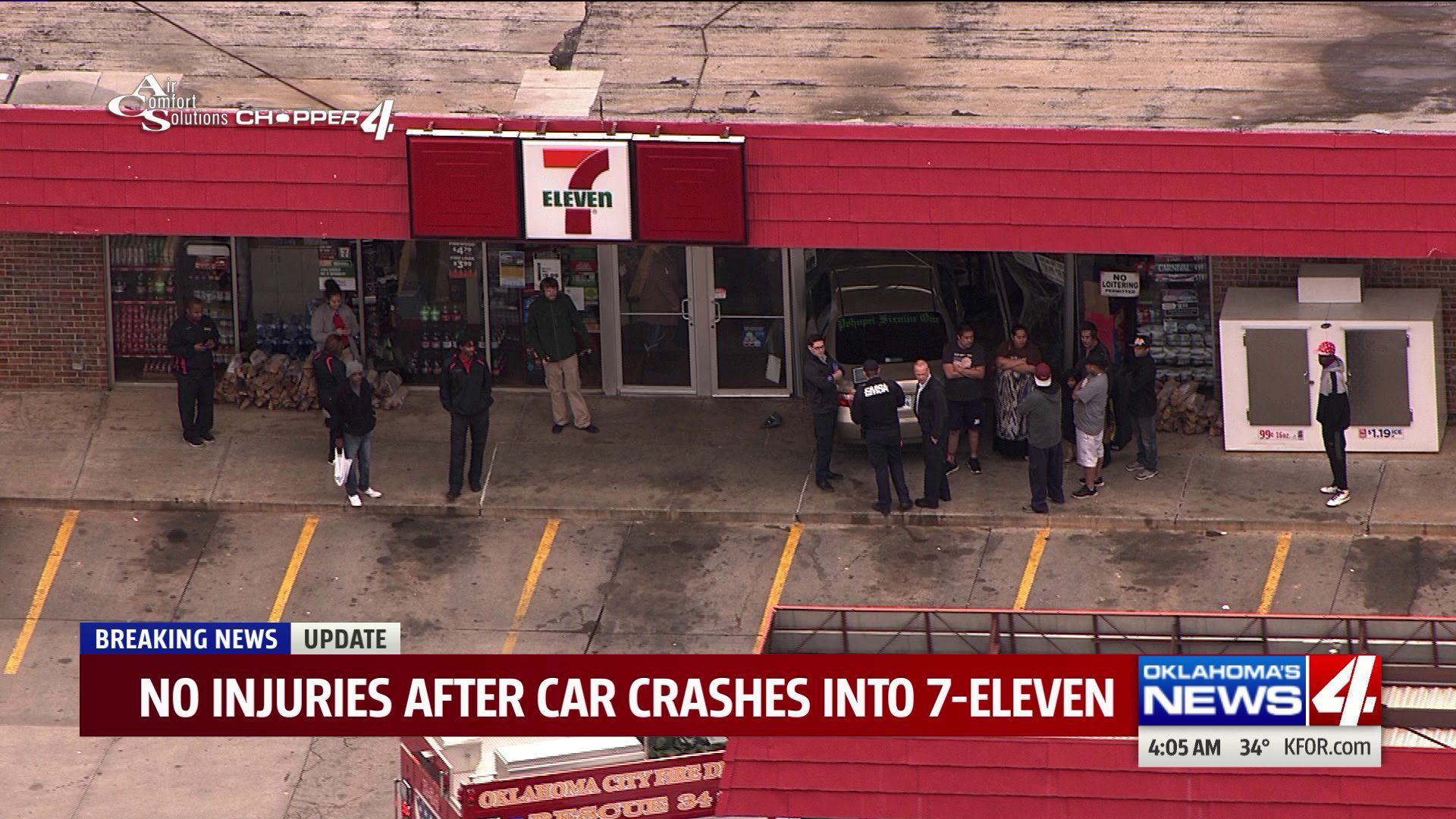 Car crashes into 7-Eleven
