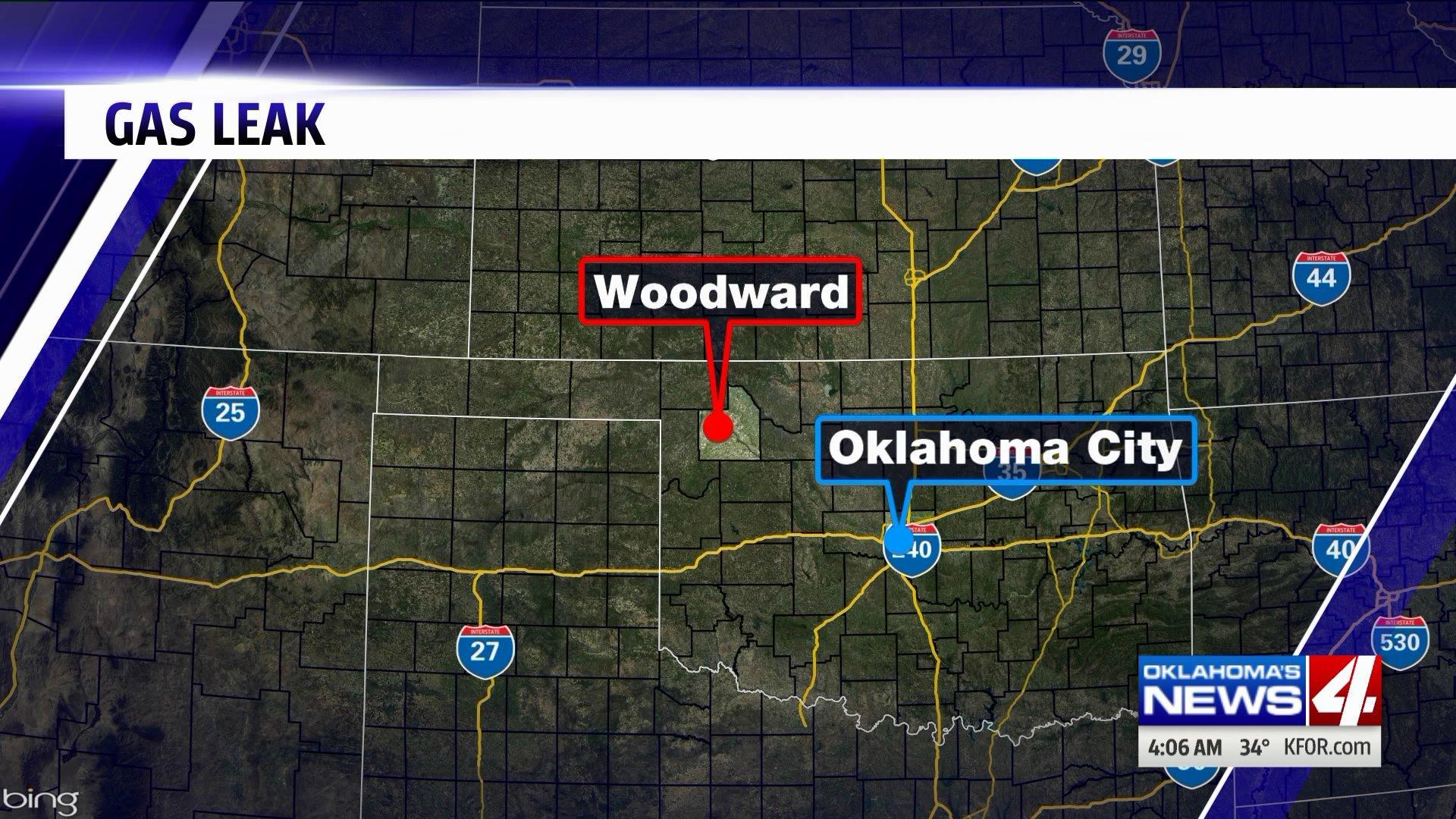 Gas leak in Woodward