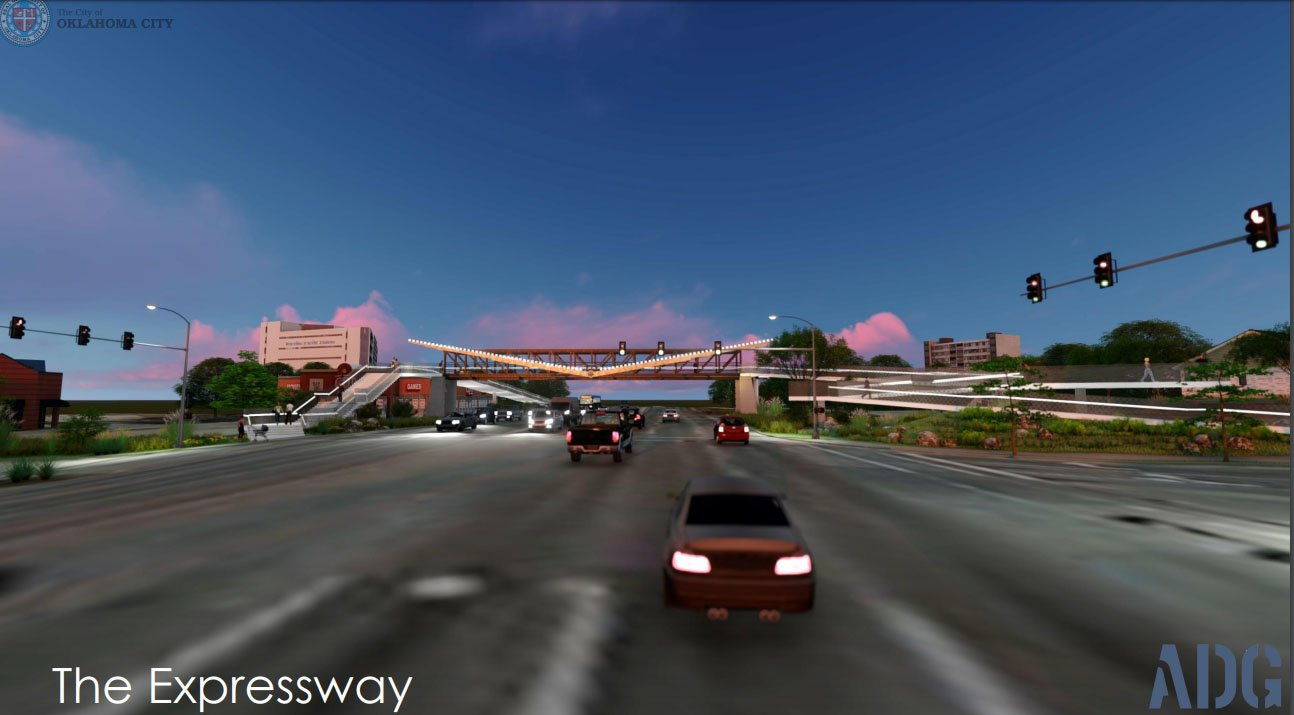 Pedestrian bridge over NW Expressway
