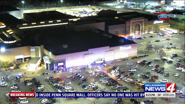 Overhead shot of Penn Square Mall in Oklahoma City