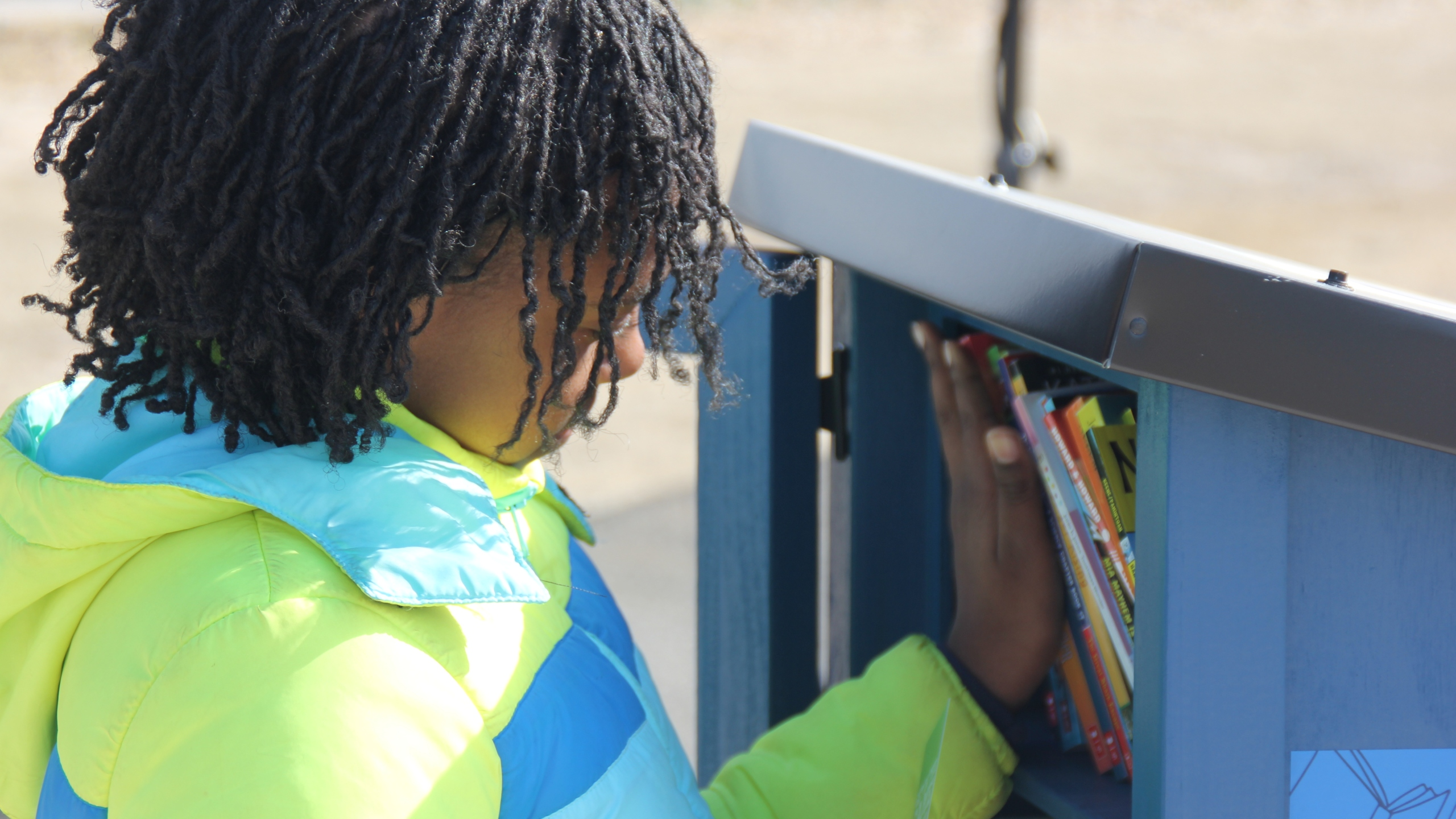 Free Little Library installed in Scissortail Park. Photo provided by ReadOKC.
