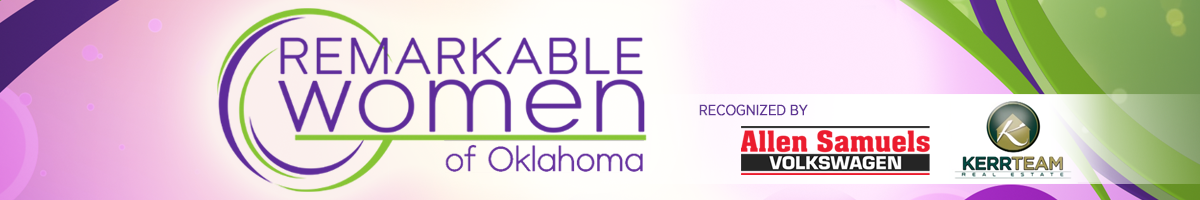 Graphic that says Remarkable Women of Oklahoma