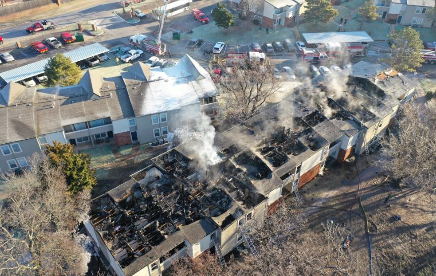 Aftermath of N.W. OKC apartment fire