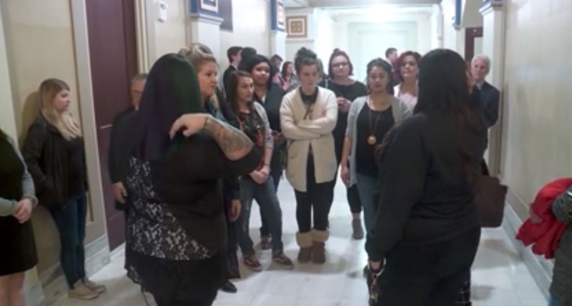 Cosmetologists protest proposed bills