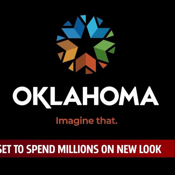 Image of new Oklahoma logo for story about the new logo.