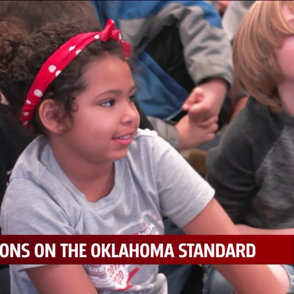 Students learn about Oklahoma Standard