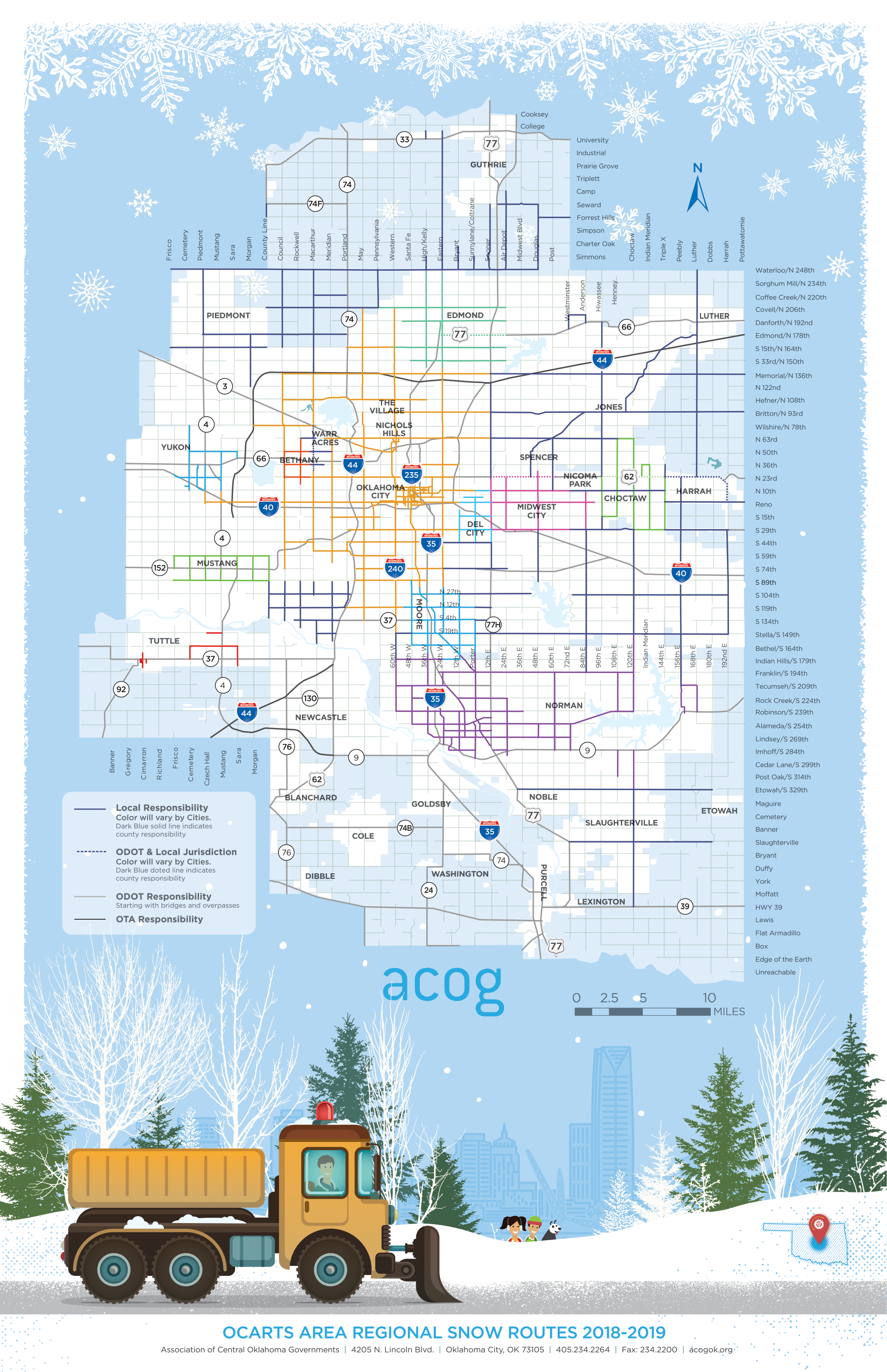 Oklahoma City snow routes