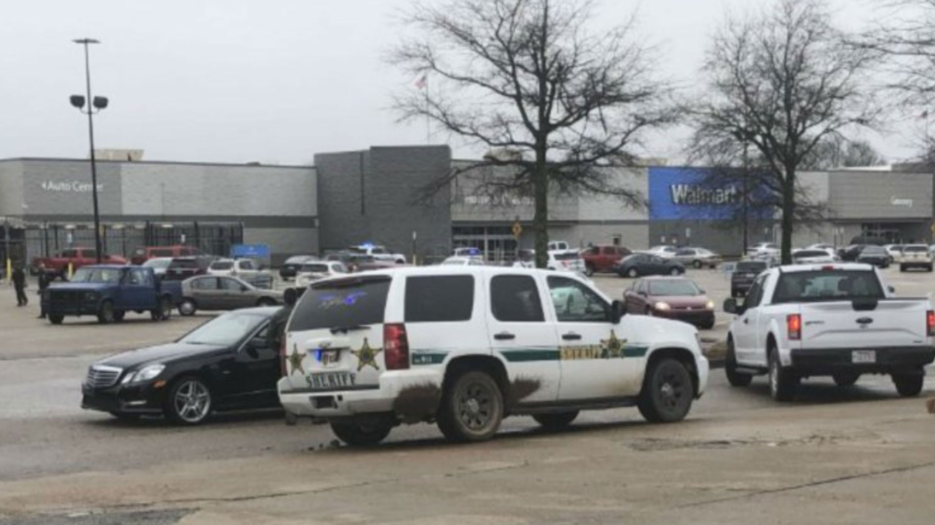 Two police officers are shot at a Walmart in Arkansas. (Photo provided by WREG)
