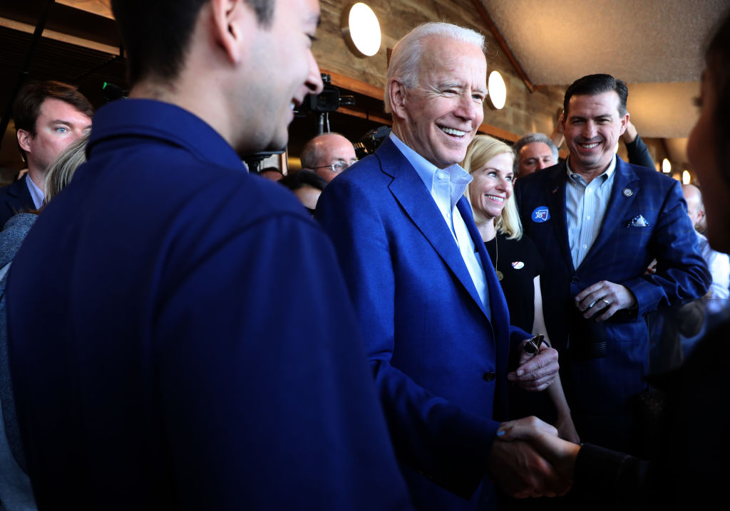 Candidate Joe Biden Visits Oakland, California On Super Tuesday