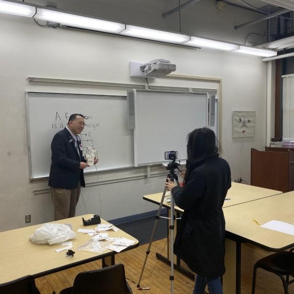 Dr. Frank Wang teaching math online