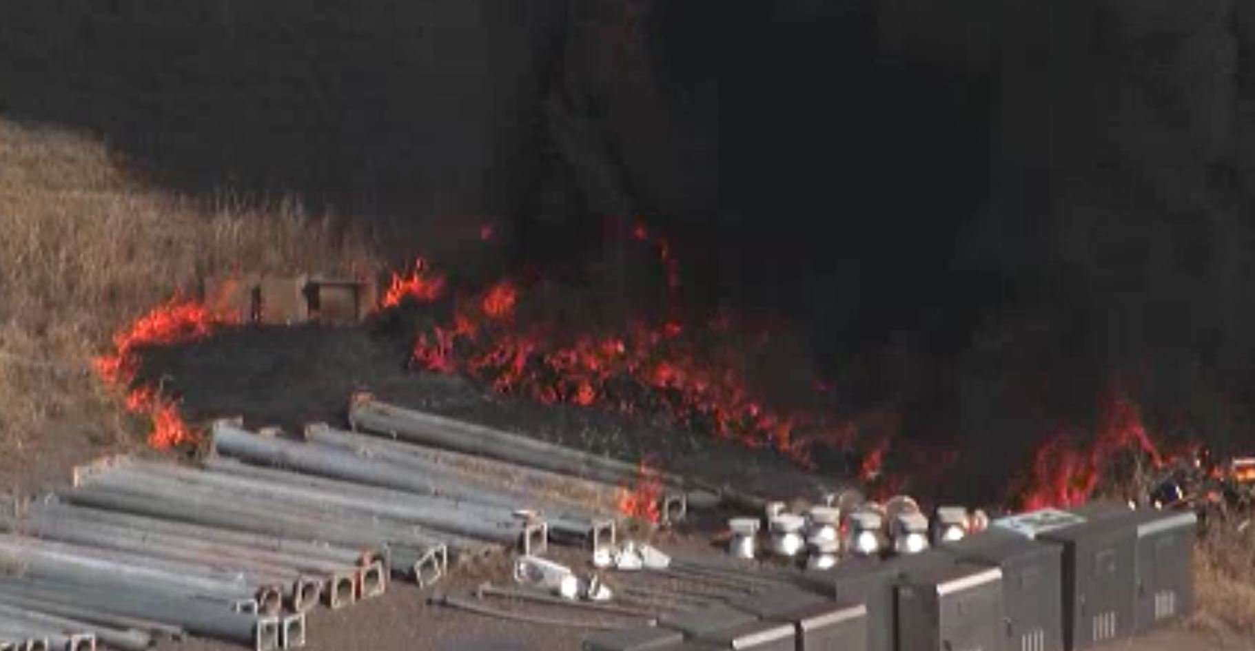 Fire at water treatment plant