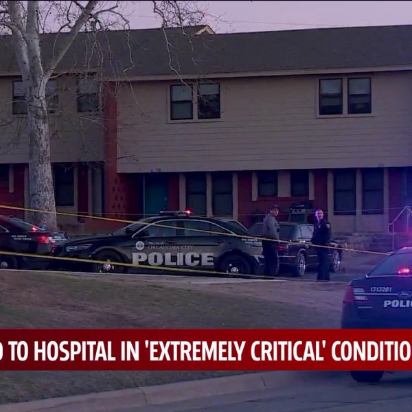 OKCPD crime scene at Fred Factory Garden Apartments
