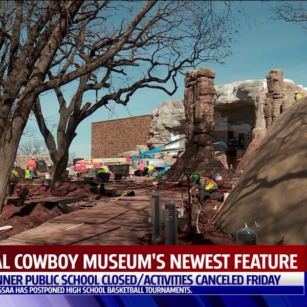 construction site at National Cowboy and western heritage museum
