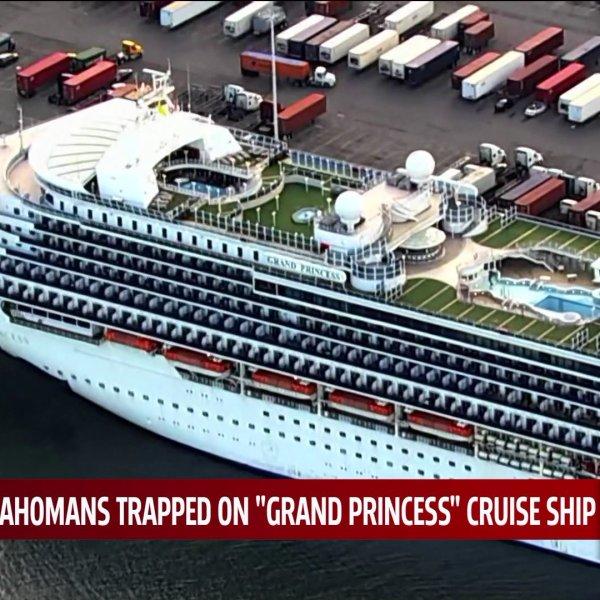 aerial shot of cruise ship docked