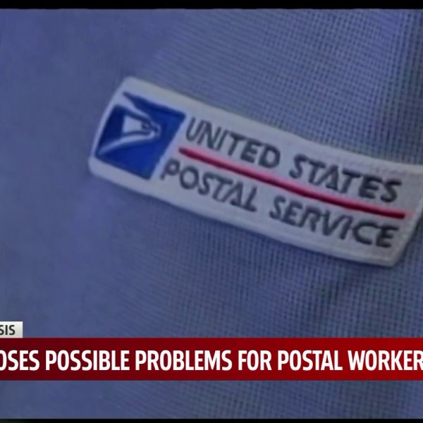 Close up of USPS postalwoker uniform