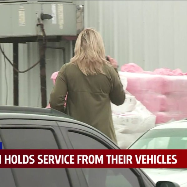 Blanchard church holds drive-in service