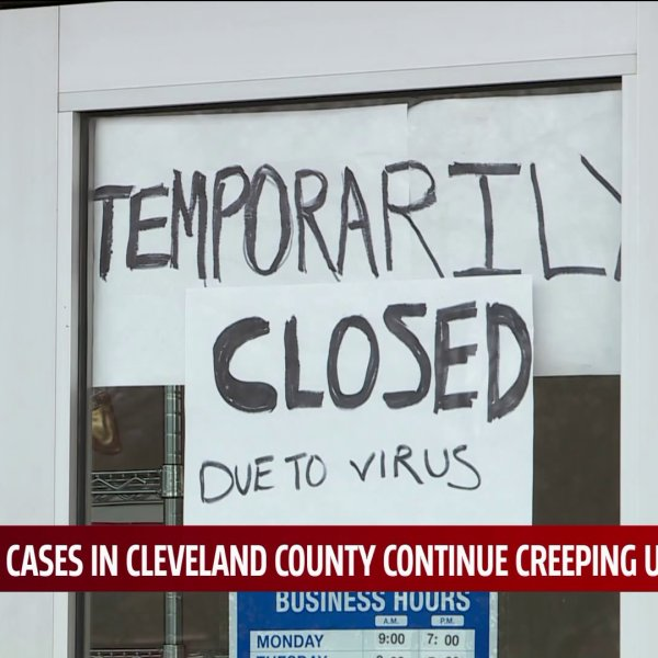 Sign on business that reads 'temporarily closed due to virus'