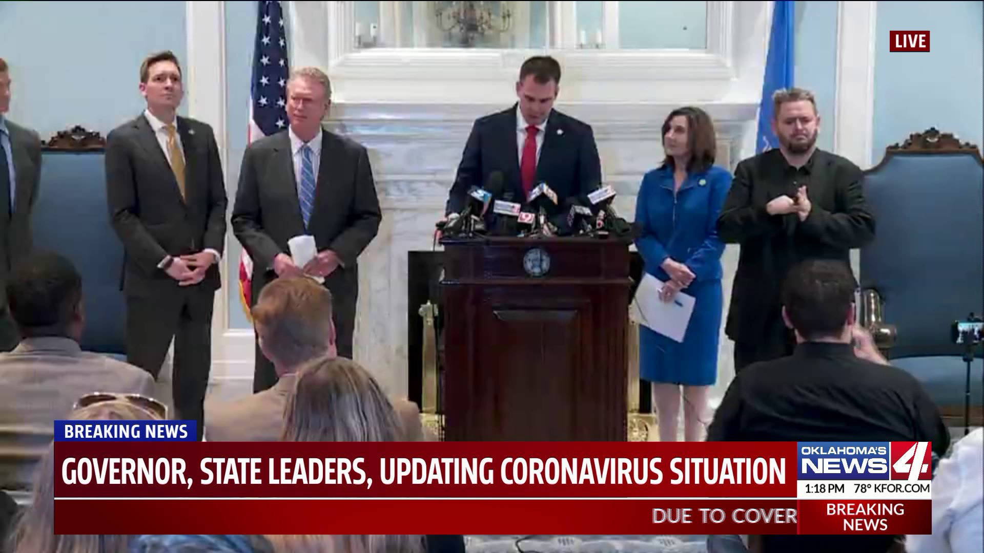 State leaders at coronavirus press conference
