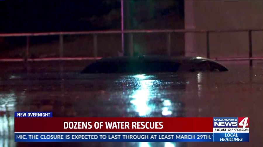 OKC police and fire crews responded to several high-water rescues early Thursday morning.