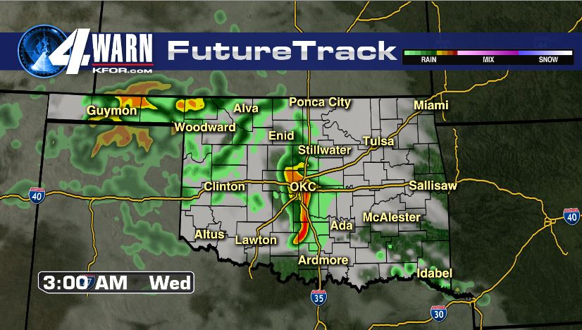 Storms Early Wednesday