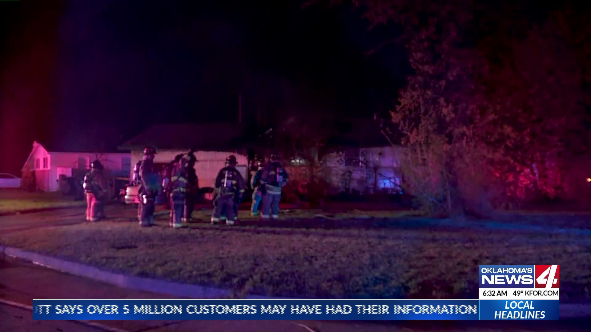 One person is injured after a house fire in S.E. Oklahoma City.