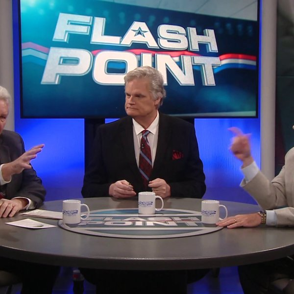 Mike Turpen, Kevin Ogle, and Todd Lamb at flashpoint round table