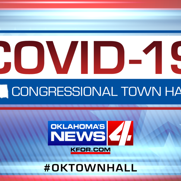 Graphic saying COVID-19 Congressional Virtual Town Hall on KFOR