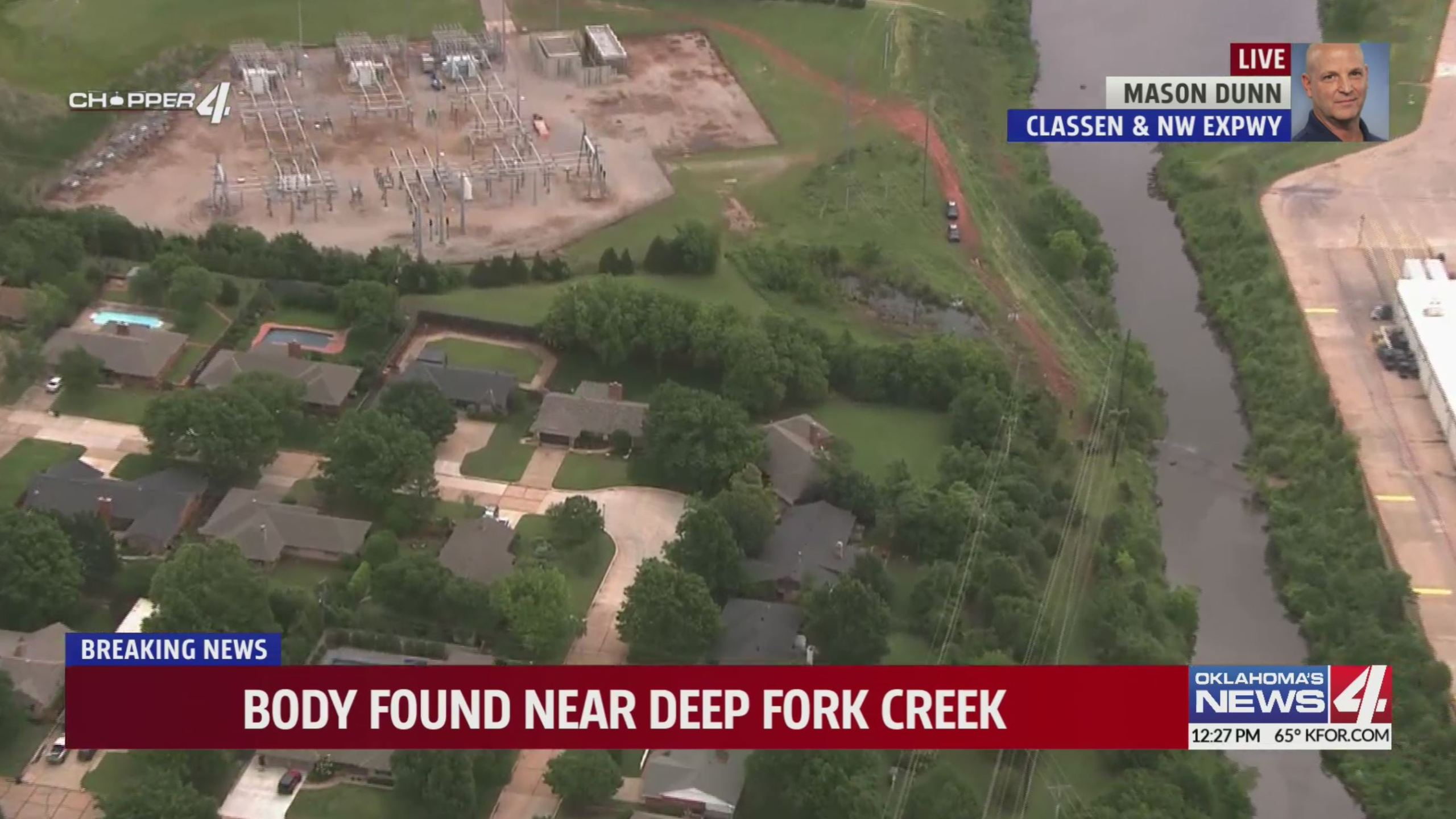 Body found in creek