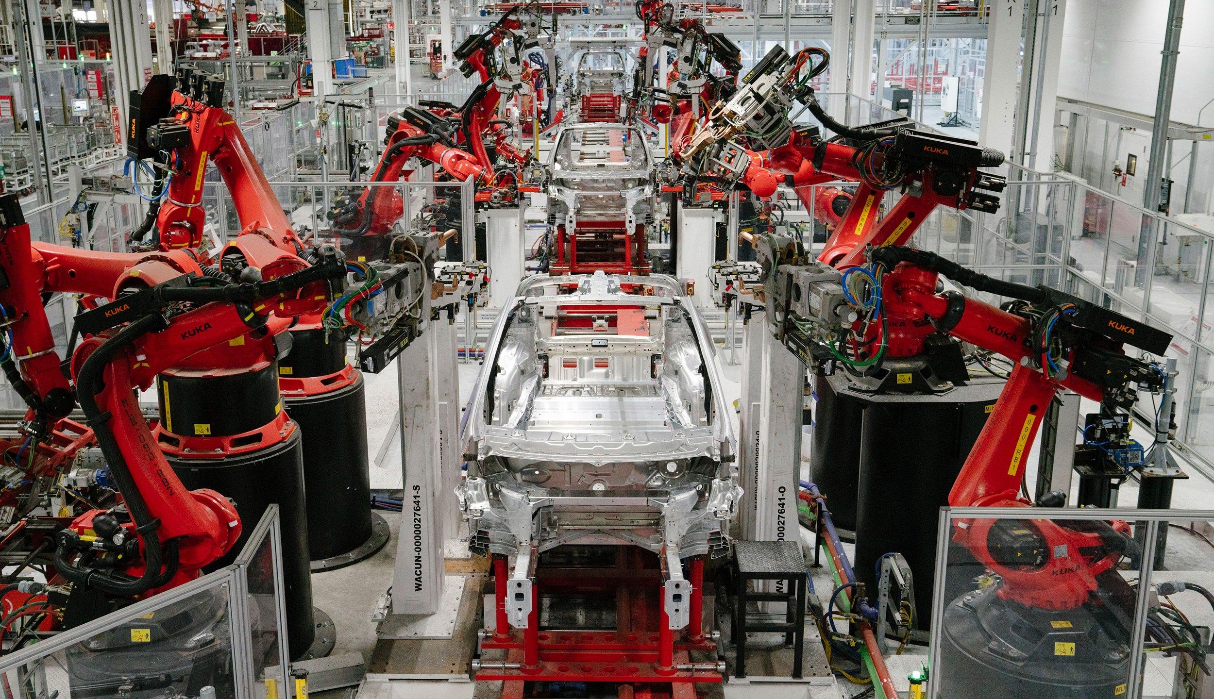 Tesla factory line