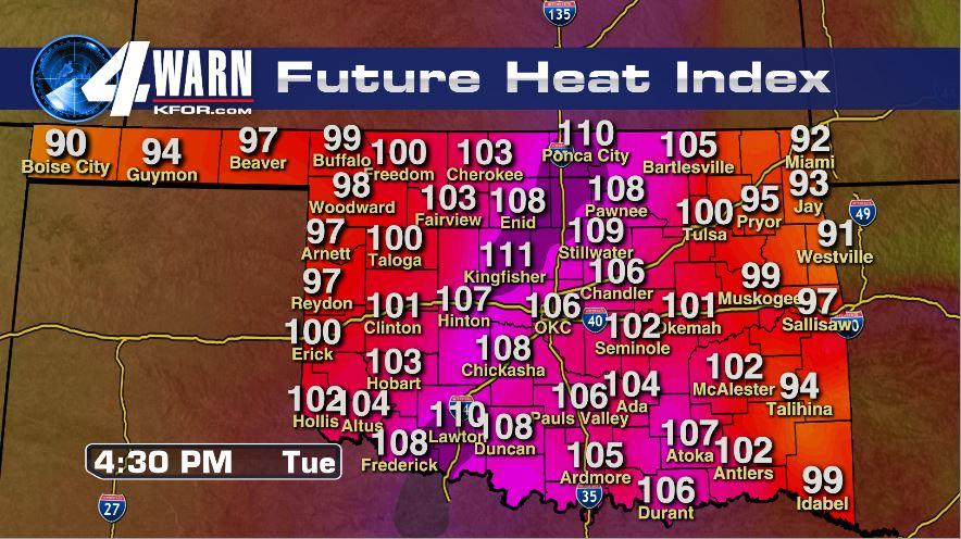 Tuesday's Heat Index