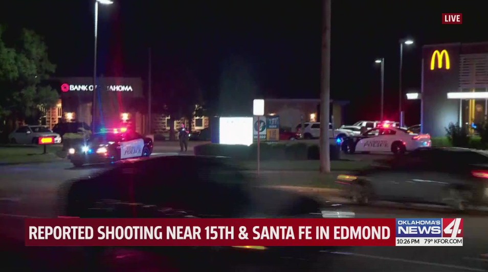 Edmond police are investigating a shooting at the McDonald's at 15th and Santa Fe.