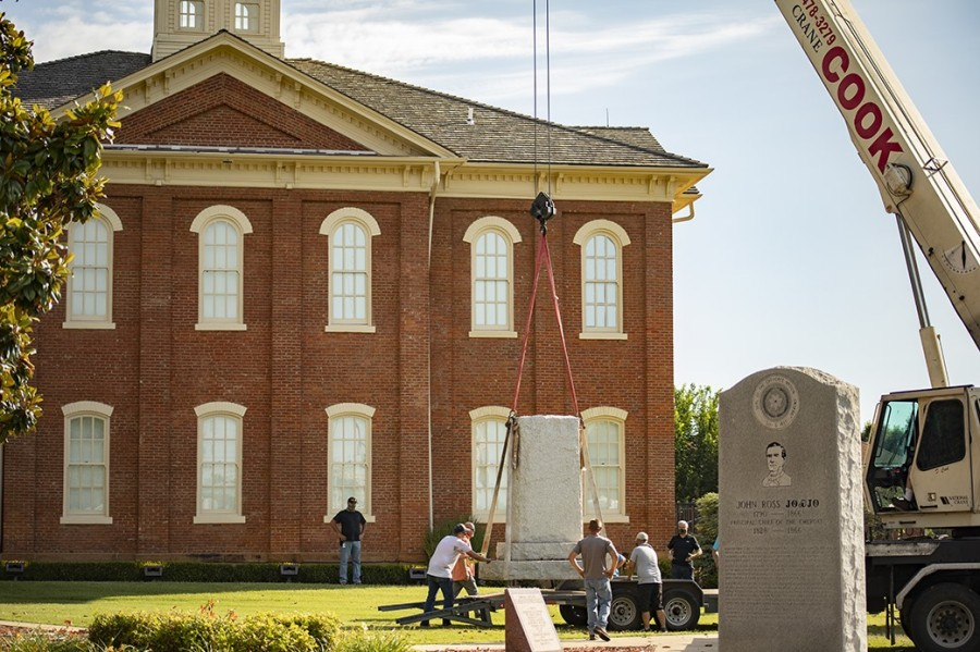 Cherokee Nation removes Confederate monuments
